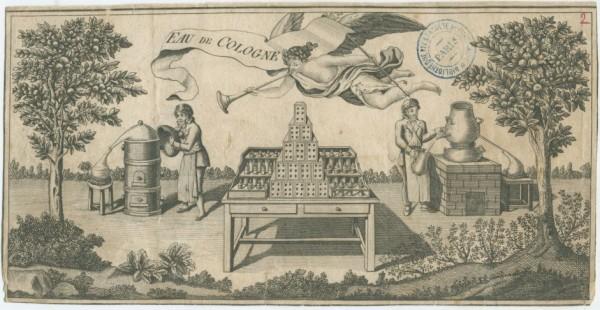 Eau de Cologne , prospectus, XVIIIe siècle