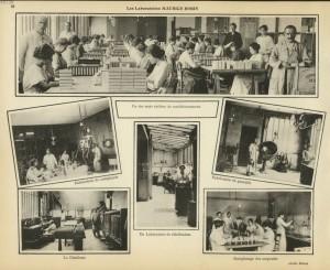 Les laboratoires Maurice Robin. Source : Revue annuelle illustrée des hôpitaux et hospices de la ville de Paris, 1922-1923