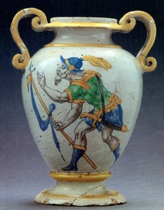 Vase bi-ansé préempté par le Musée de la Renaissance, vente Ricqlès Drouot, 20 octobre 1996