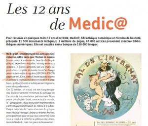 Article d'Arabesque sur Medic@