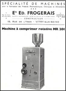 Machines à comprimer rotative - Ed. Frogerais