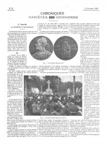 Célébration du centenaire de Charles Davila (1786-1889). Source : La Presse Médicale