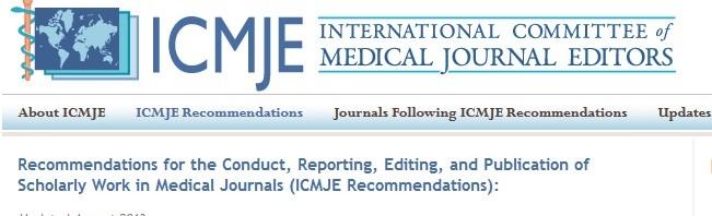 Nouvelles recommandations pour les articles médicaux