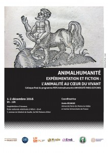 Affiche du colloque Animalhumanité