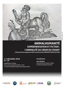 Affiche du colloque Animalhumanité