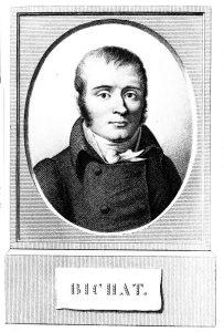 Portrait de Bichat en frontispice de l'Anatomie générale, appliquée à la physiologie et à la médecine (Paris, 1821)