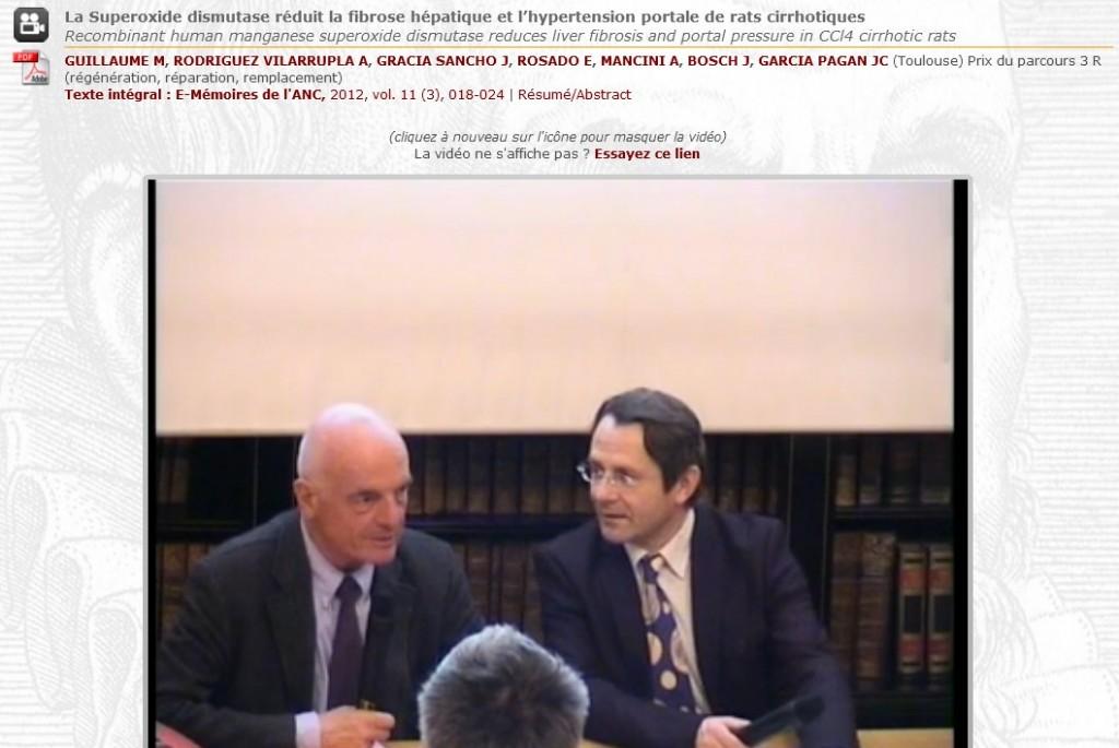Vidéo académie nationale de Chirurgie