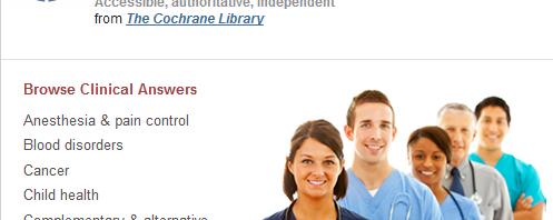 Testez les Cochrane Clinical Answers