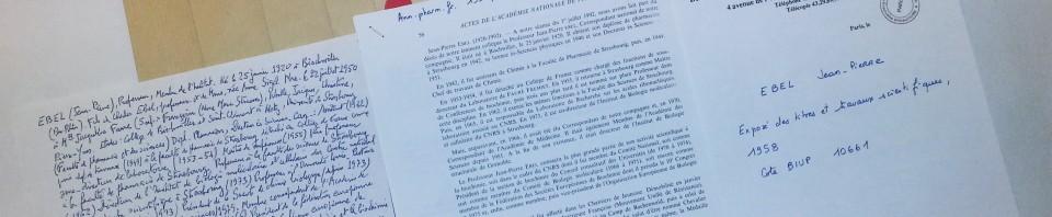 Redécouvrez les dossiers biographiques de Georges Dillemann