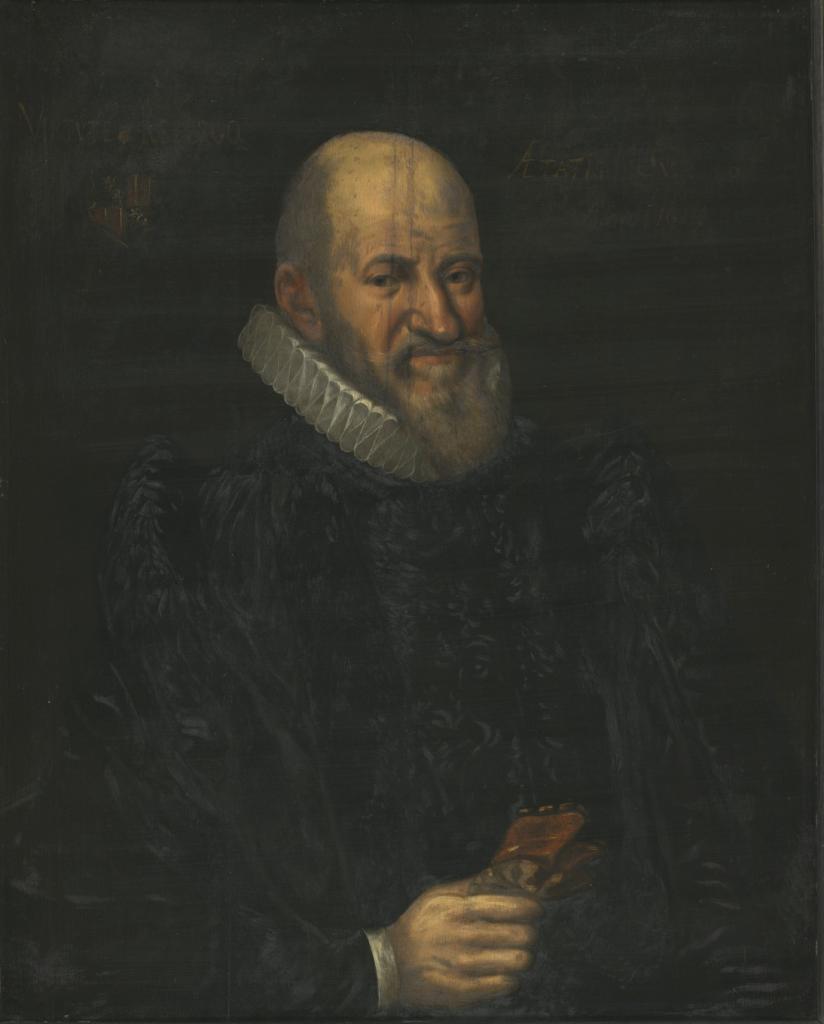 Potrait d'un inconnu. 1611. Collection du Musée d'histoire de la médecine, Université de Paris, vue d'ensemble