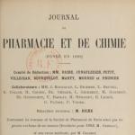 Journal de pharmacie et de chimie, année 1902. Source : Gallica.
