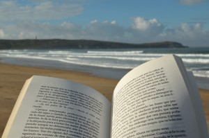 leyendo-un-libro-en-la-playa