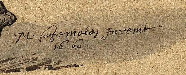 Marten Sagemolen's signature, dated 1660 (Ms 29)
