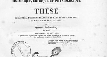 Mise en ligne des thèses et synthèses de pharmacie (XVIIIe-XIXe siècle)