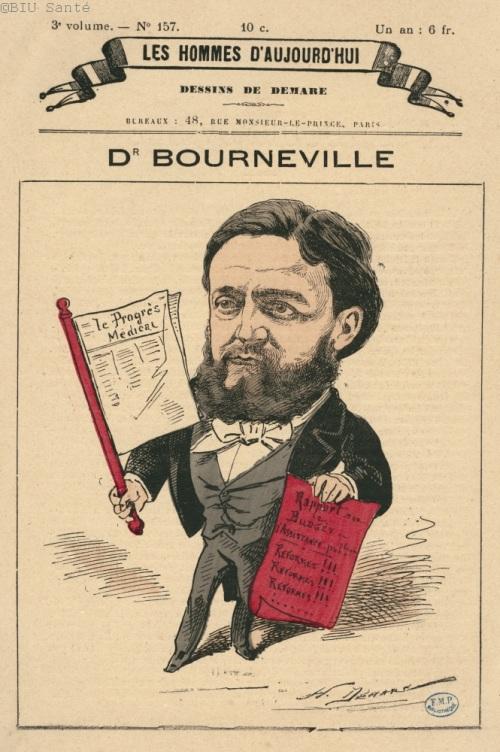 Caricature du docteur Bourneville