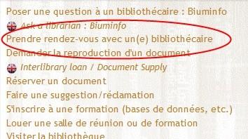 Prenez RDV avec un(e) bibliothécaire