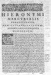 [Bandeau et lettrine : Q. Représentation de Romulus et Remus allaités par une louve] - Hieronymi Mer [...]