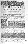 [Bandeau et lettrine : S] - Hieronymi Mercurialis,... In omnes Hippocratis Aphorismorum libros  prae [...]