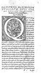 [Lettrine : Q. Scène de dissection d'un cochon par des putti] - Andreae Vesalii Bruxellensis, medici [...]