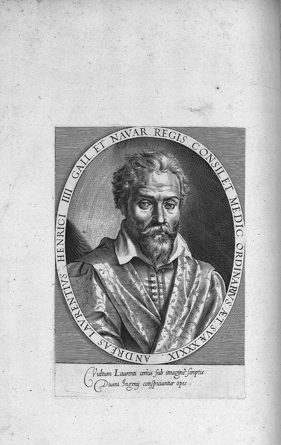 Andreas Laurentius Henrici IIII Gall. et Navar. regis consil. et medic. ordinarius aet. suae XXXIX - [...] - Médecins. 16e siècle, 17e siècle (France) - med00276x0030