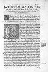 [Lettrines : A et C. Représentation de la Prudence, vertu cardinale] - Hippocratis Coi medicorum omn [...]