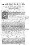 [Lettrine : M] - Hippocratis Coi medicorum omnium principis epidemiôn liber secundus