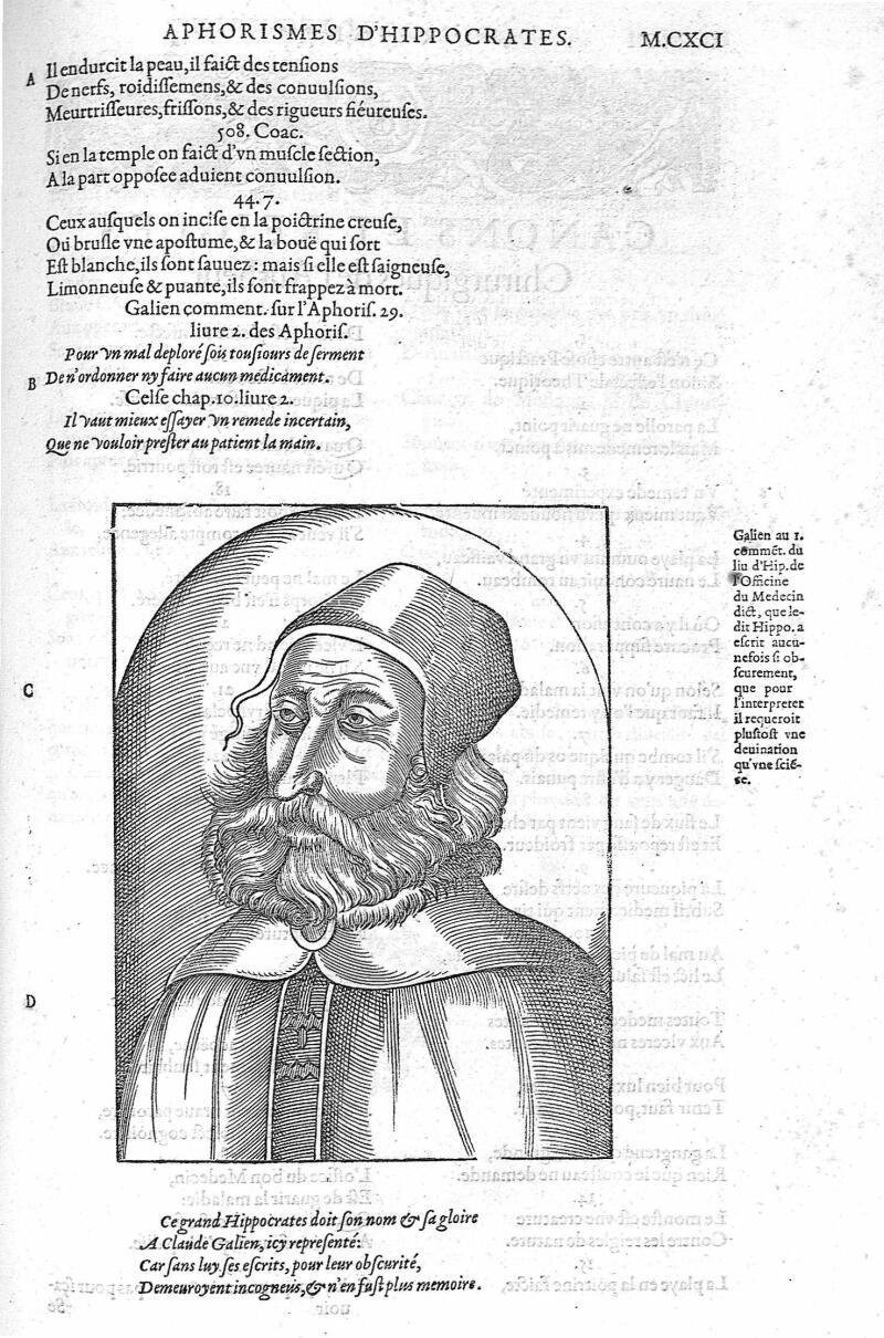 [Galien] - Les Oeuvres d'Ambroise Paré,... divisées en vingt huict livres avec les figures et portra [...] -  - med01709x1220