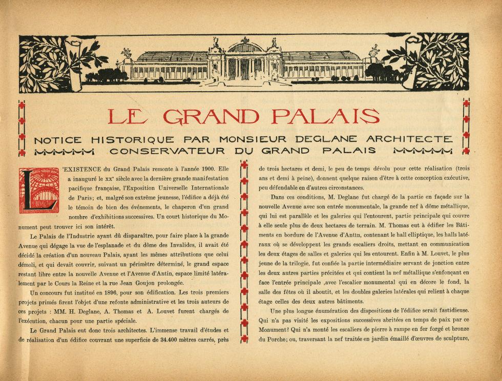 [Bandeau : le Grand Palais] - Le Grand Palais pendant la guerre (1914-1915-1916) -  - med02077x0004