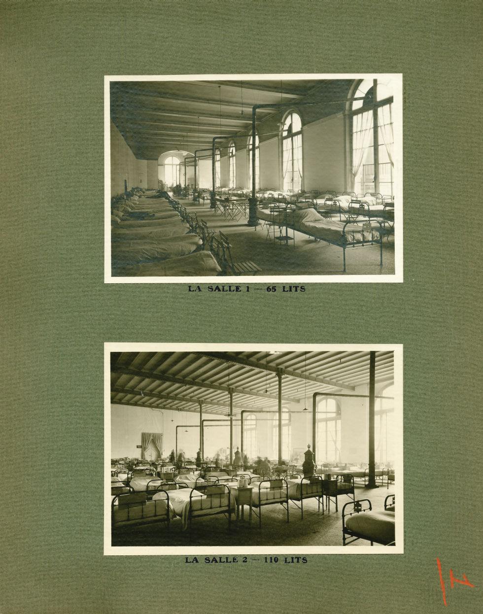 [Le Grand Palais pendant la guerre] La salle 1 - 65 lits / La salle 2 - 110 lits - Le Grand Palais p [...] -  - med02077x0025