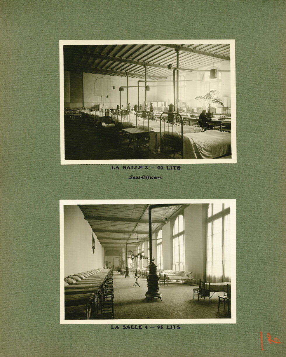 [Le Grand Palais pendant la guerre] La salle 3 - 90 lits. Sous-officiers / La salle 4 - 95 lits - Le [...] -  - med02077x0026