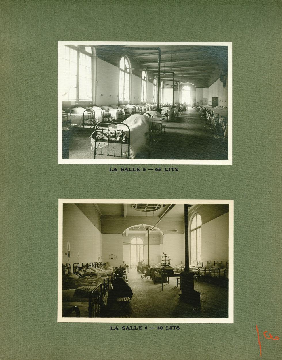 [Le Grand Palais pendant la guerre] La salle 5 - 65 lits / La salle 6 - 40 lits - Le Grand Palais pe [...] -  - med02077x0027