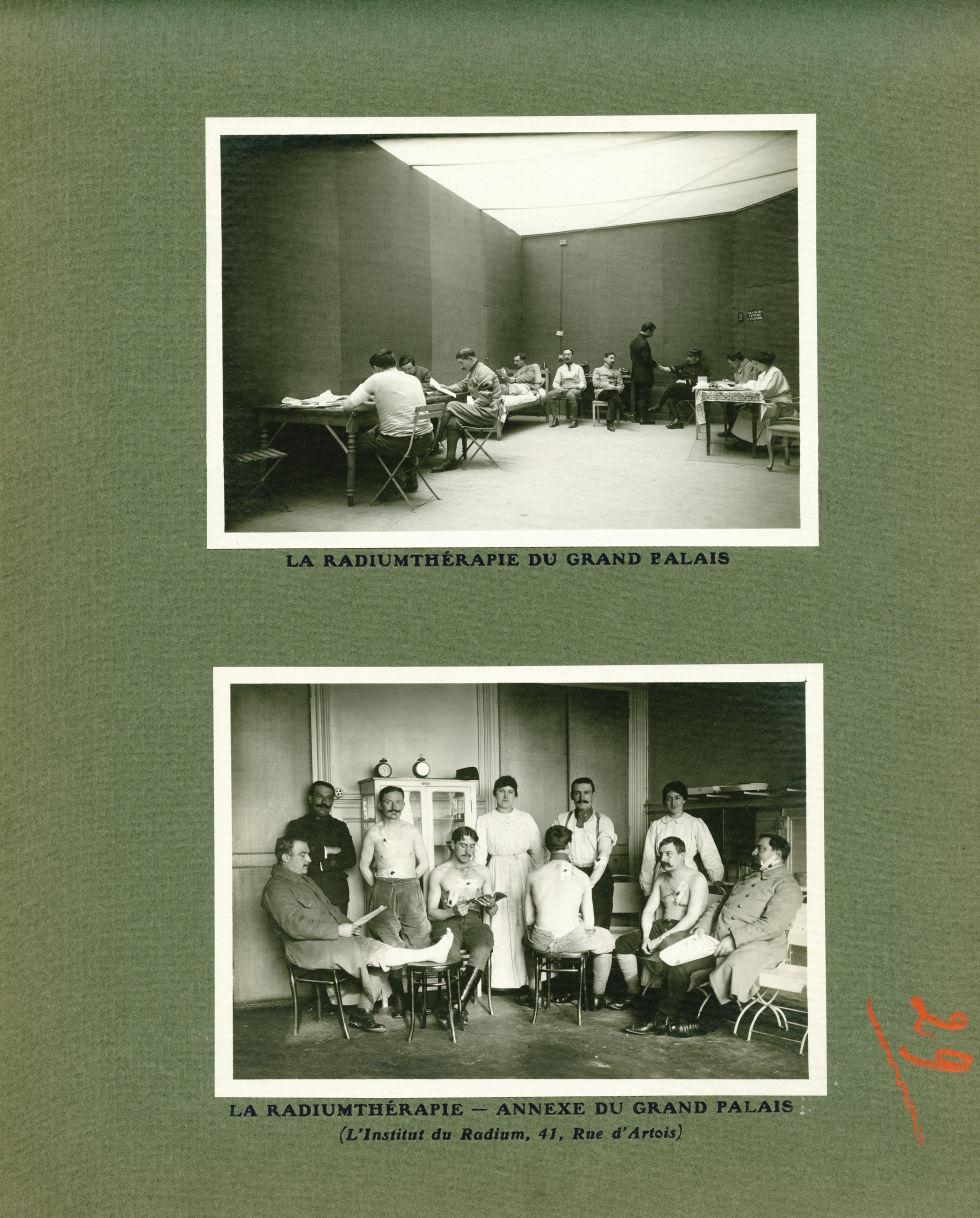 [Le Grand Palais pendant la guerre] La radiumthérapie du Grand Palais / La radiumthérapie - Annexe d [...] -  - med02077x0053