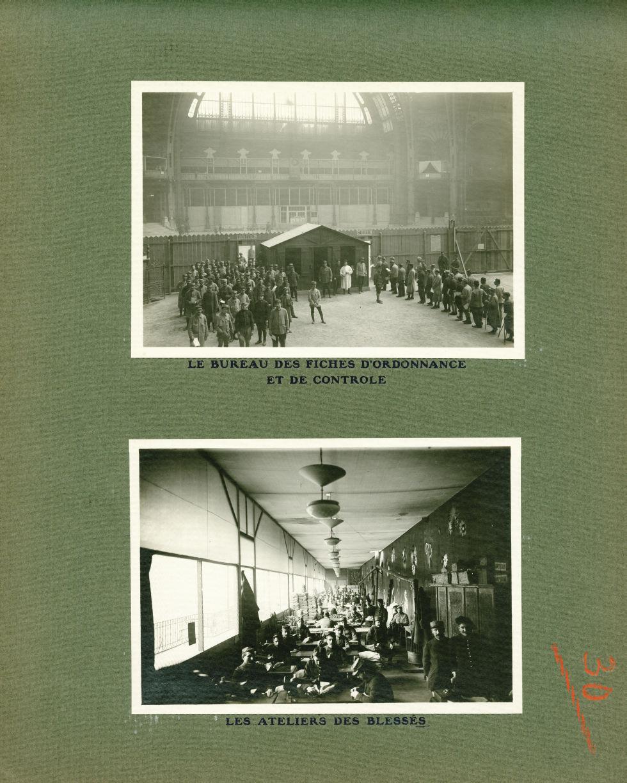[Le Grand Palais pendant la guerre] Le bureau des fiches d'ordonnance et de contrôle / Les ateliers  [...] -  - med02077x0054