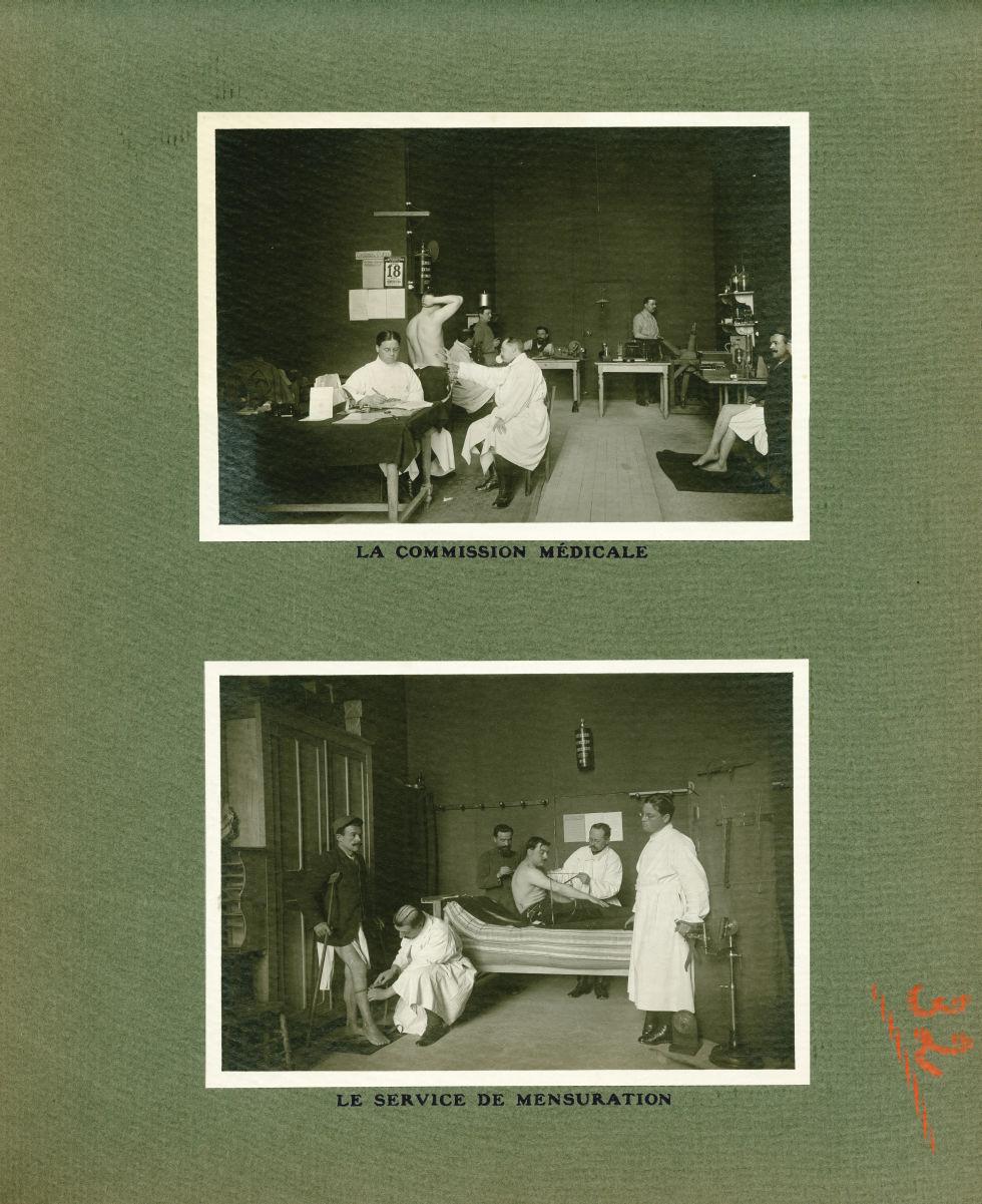 [Le Grand Palais pendant la guerre] La commission médicale / Le service de mensuration - Le Grand Pa [...] -  - med02077x0056