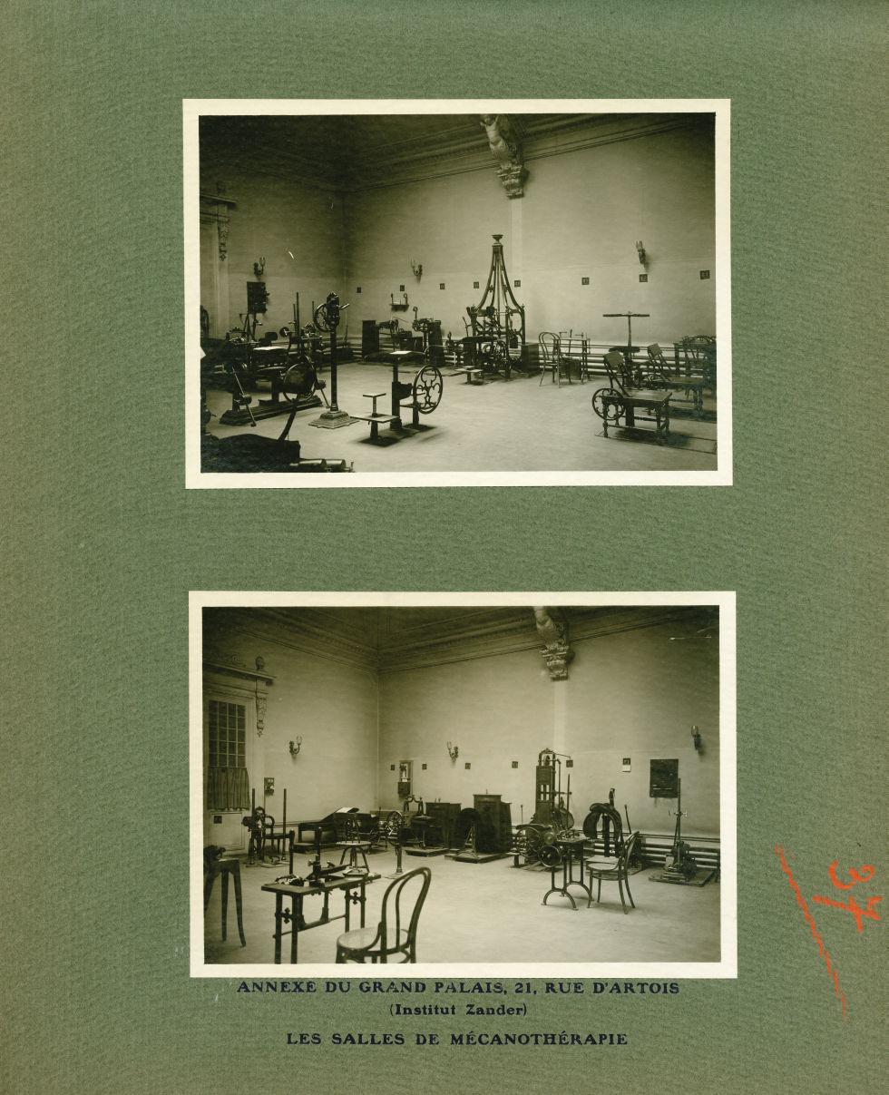 [Le Grand Palais pendant la guerre] Annexe du Grand Palais, 21, rue d'Artois (institut Zander). Les  [...] -  - med02077x0061
