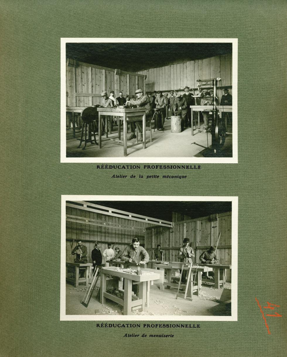 [Le Grand Palais pendant la guerre] Rééducation professionnelle. Atelier de la petite mécanique / At [...] -  - med02077x0065