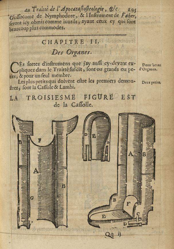 La troisiesme Figure est de la cassolle - L'Oeconomie chirurgicale, pour le r'habillement des os du  [...] -  - med05207x0324