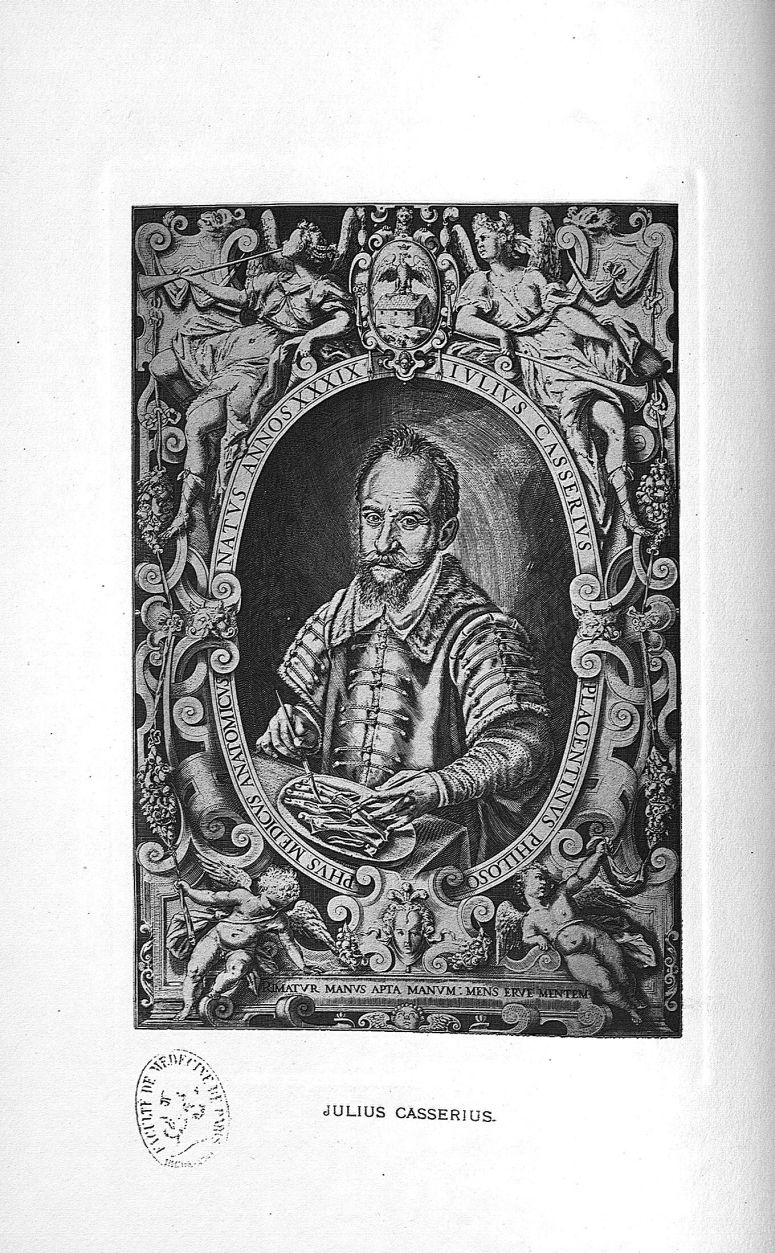 Planche 6. Julius Casserius - Some apostles of physiology -  - med08985x0027