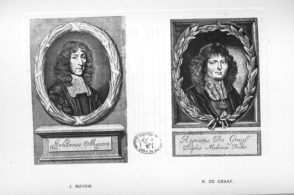 Planche 14. J. Mayow / R. De Graaf - Some apostles of physiology -  - med08985x0076