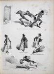 [ Caricatures études de médecine Paris ] - Comment on étudie la médecine à Paris. Histoire de Fiasca [...]