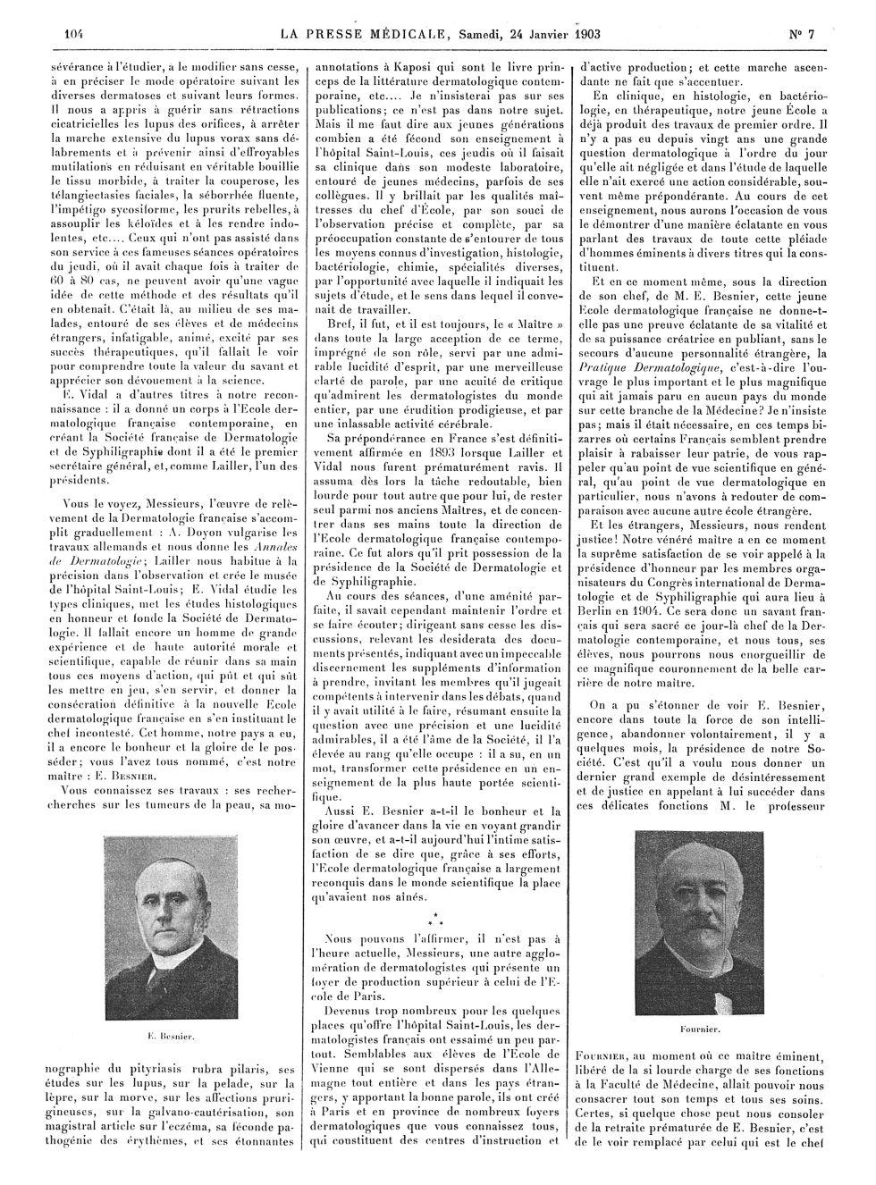 E. Beier / Fournier - La Presse médicale - [Articles originaux] -  - med100000x1903xartorigx0106