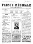 Gilles de la Tourette - La Presse médicale - [Volume d'annexes]