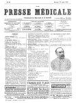Le Professeur Brouardel - La Presse médicale - [Volume d'annexes]