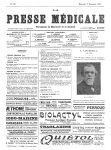 E. Lancereaux - La Presse médicale - [Volume d'annexes]