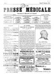 Sir Norman Moore, Président d'honneur du Congrès - La Presse médicale - [Volume d'annexes]