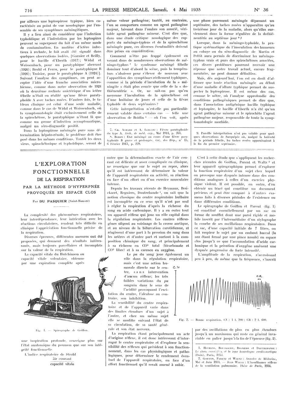 Fig. 1. Spirographe de Goiffon / Fig. 2. Bonne respiration. CV : 4 I. 200 ; CR : I. 600 -  - med100000x1935xartorigx0720
