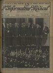 En haut, la réception des membres du centenaire de Laënnec à l'Hôtel de ville de Paris. Au centre, M [...]