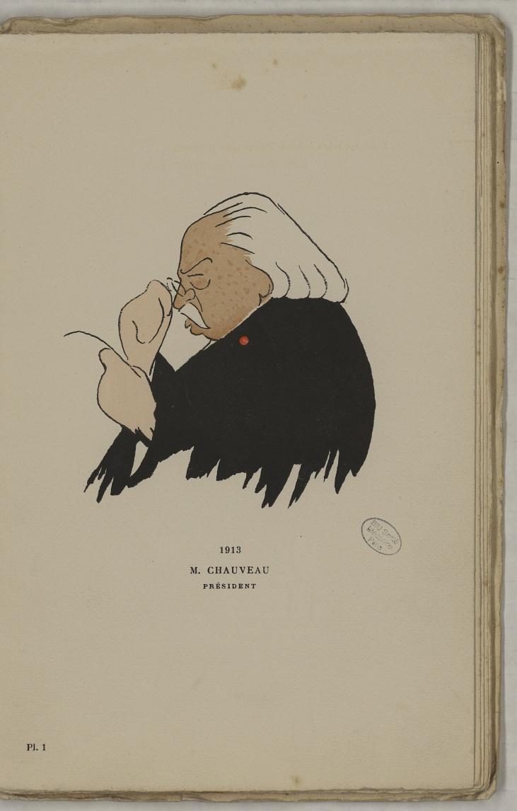 M. Chauveau (J.-B.-A) - L'Académie de médecine : album, 1re série - Médecins. Académie de médecine (Paris). Autographes. Caricatures. France. 20e siècle - med10947Bx01x11x0005