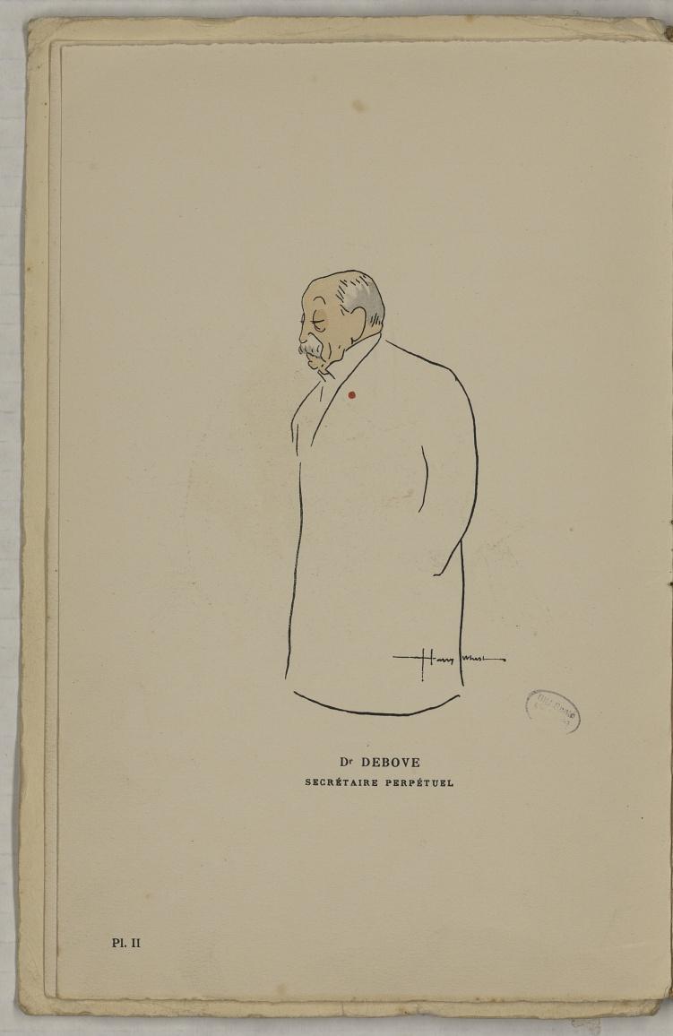 M. Debove - L'Académie de médecine : album, 1re série - Médecins. Académie de médecine (Paris). Autographes. Caricatures. France. 20e siècle - med10947Bx01x11x0006
