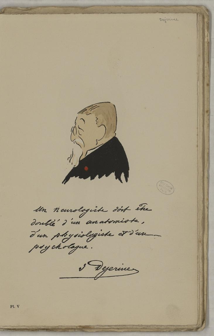 M. Dejérine - L'Académie de médecine : album, 1re série - Médecins. Académie de médecine (Paris). Autographes. Caricatures. France. 20e siècle - med10947Bx01x11x0009